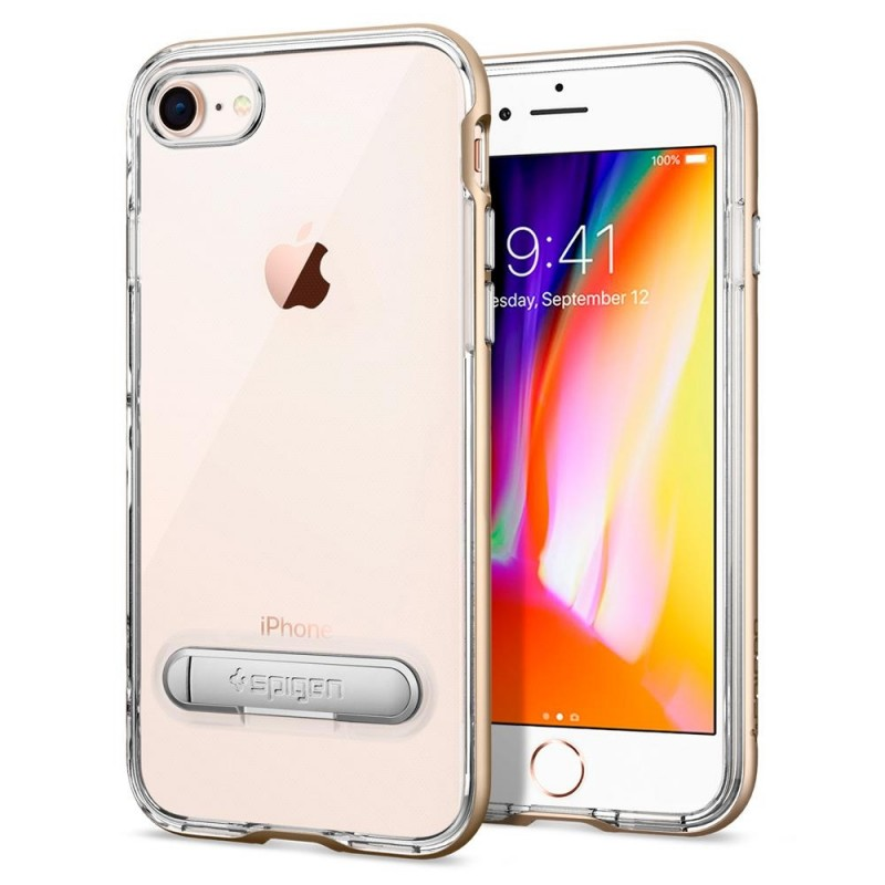 Spigen Crystal Hybrid Case iPhone 8/7 Goud - 2