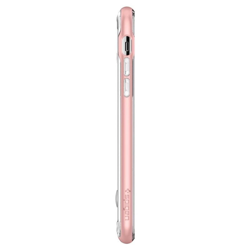 Spigen Crystal Hybrid iPhone X/Xs Hoesje Roze/Transparant - 8