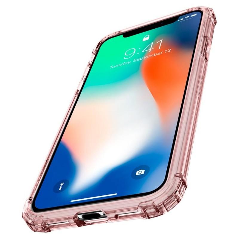 Spigen Crystal Shell iPhone X/Xs Hoesje Transparant/Roze - 4
