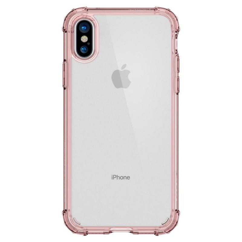 Spigen Crystal Shell iPhone X/Xs Hoesje Transparant/Roze - 5