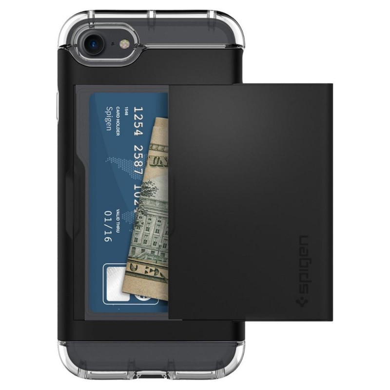 Spigen Crystal Wallet iPhone 8/7 Hoesje Zwart - 4