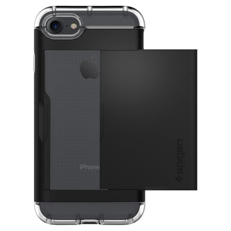Spigen Crystal Wallet iPhone 8/7 Hoesje Zwart - 5