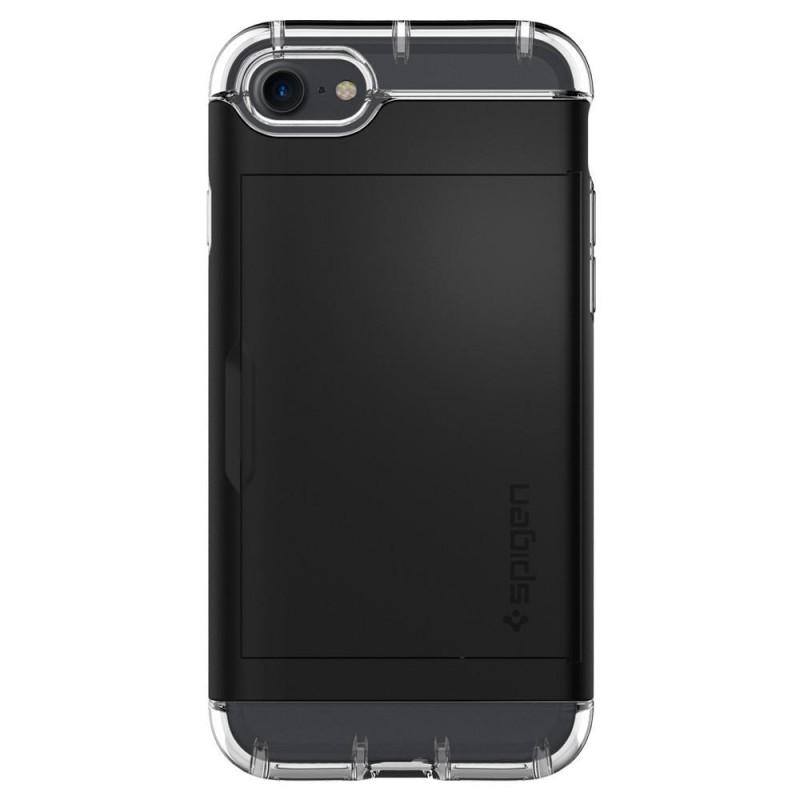 Spigen Crystal Wallet iPhone 8/7 Hoesje Zwart - 7