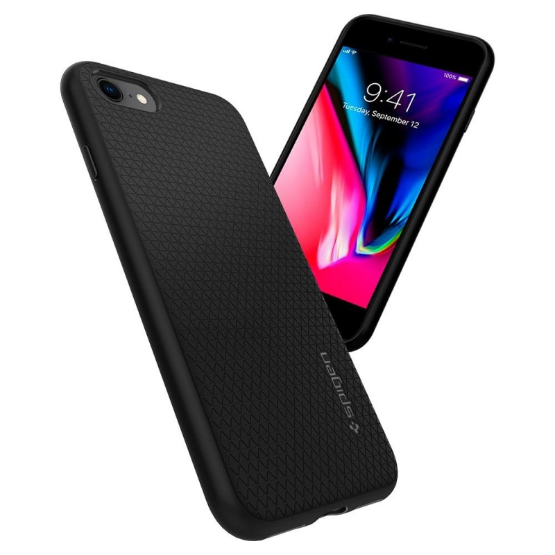 Spigen Liquid Air Armor Case iPhone 8/7 Zwart - 2