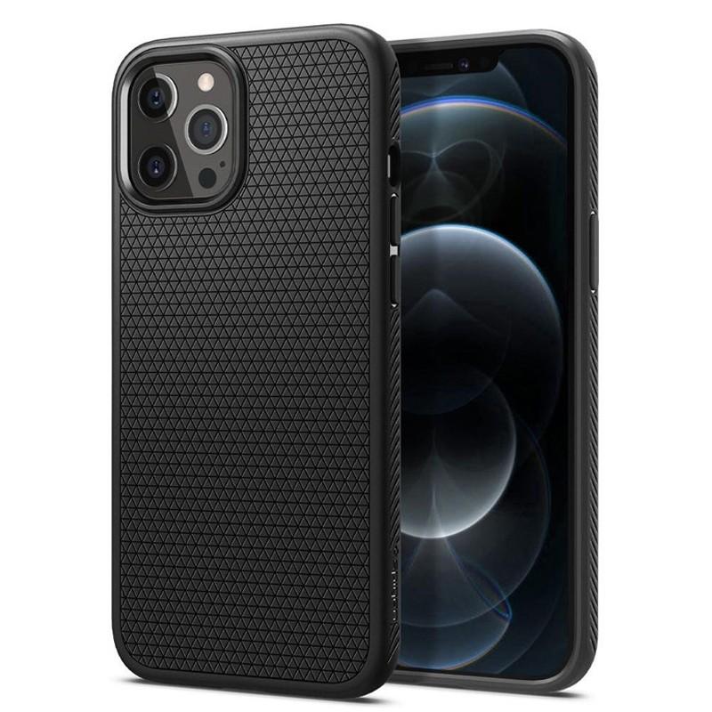Spigen - Liquid Air iPhone 12 / iPhone 12 Pro 6.1 inch zwart 01