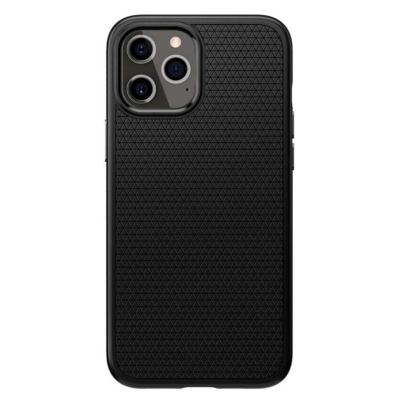 Spigen - Liquid Air iPhone 12 / iPhone 12 Pro 6.1 inch zwart 02