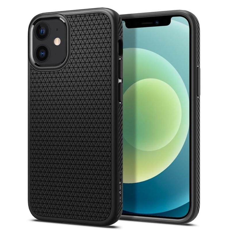 Spigen - Liquid Air iPhone 12 Mini 5.4 inch zwart 01