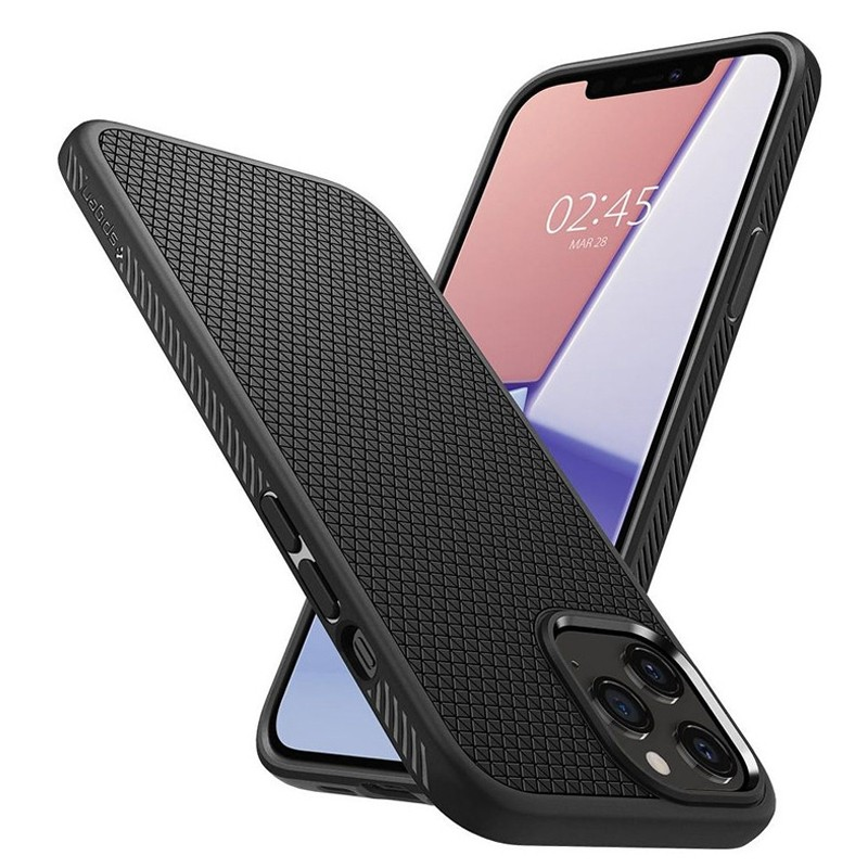 Spigen - Liquid Air iPhone 12 Pro Max 6.7 inch zwart 03