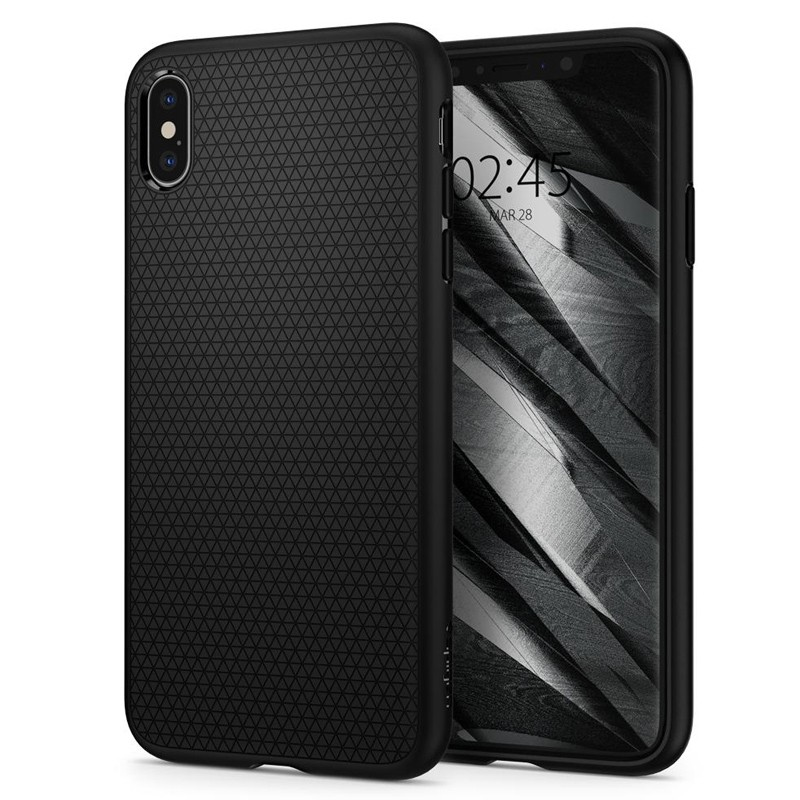 Spigen Liquid Air iPhone XS Max Hoesje Zwart 04