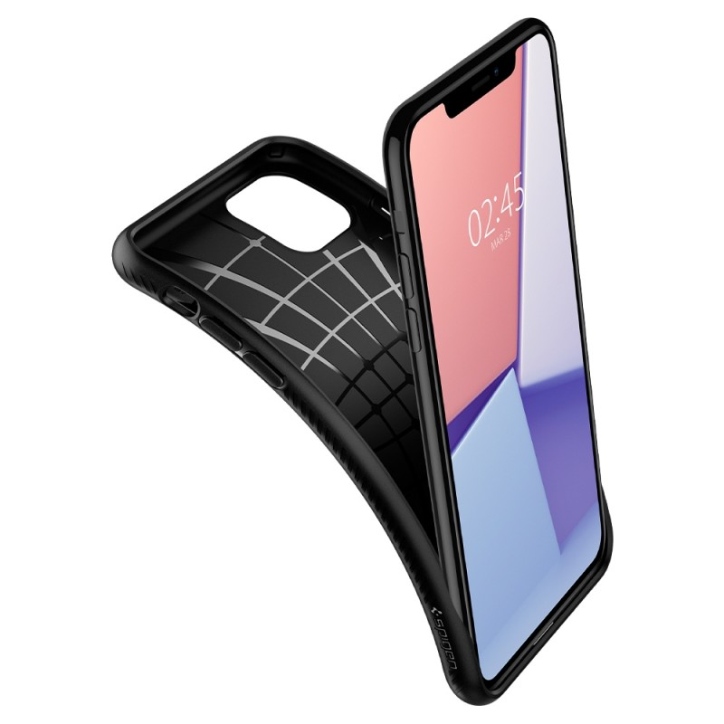 Spigen Liquid Air iPhone 11 Pro Max Zwart - 5