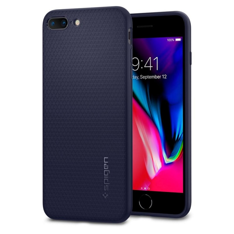 Spigen Liquid Air Armor Case iPhone 8 Plus/7 Plus Blauw - 1