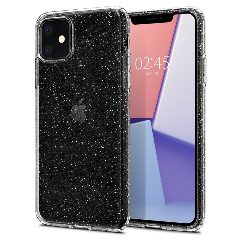 Spigen Liquid Crystal Glitter iPhone 11 Hoesje Quartz - 1