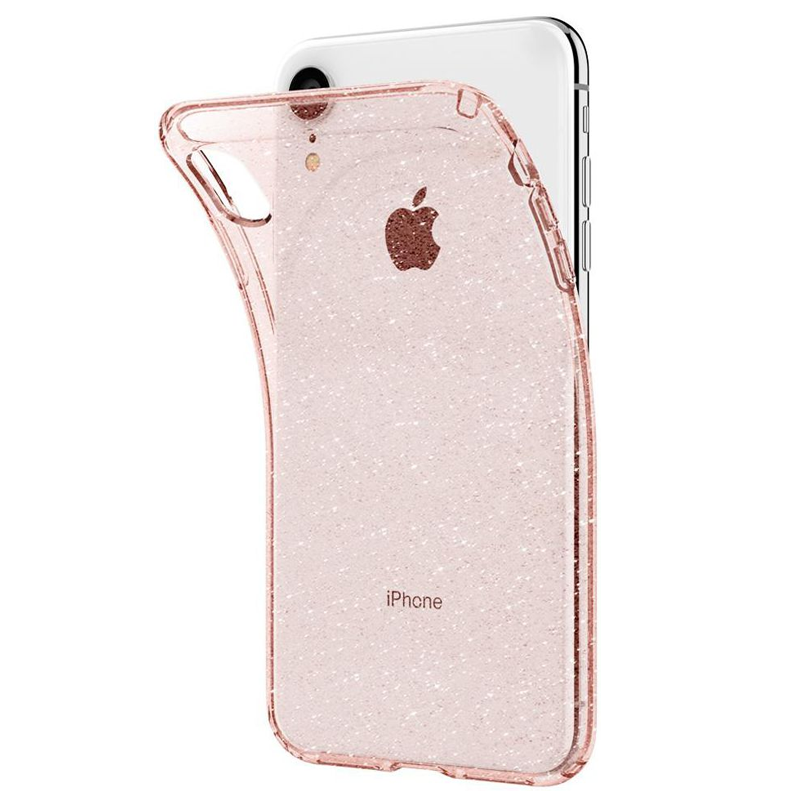 Spigen Liquid Crystal Case Glitter iPhone XR Roze 03