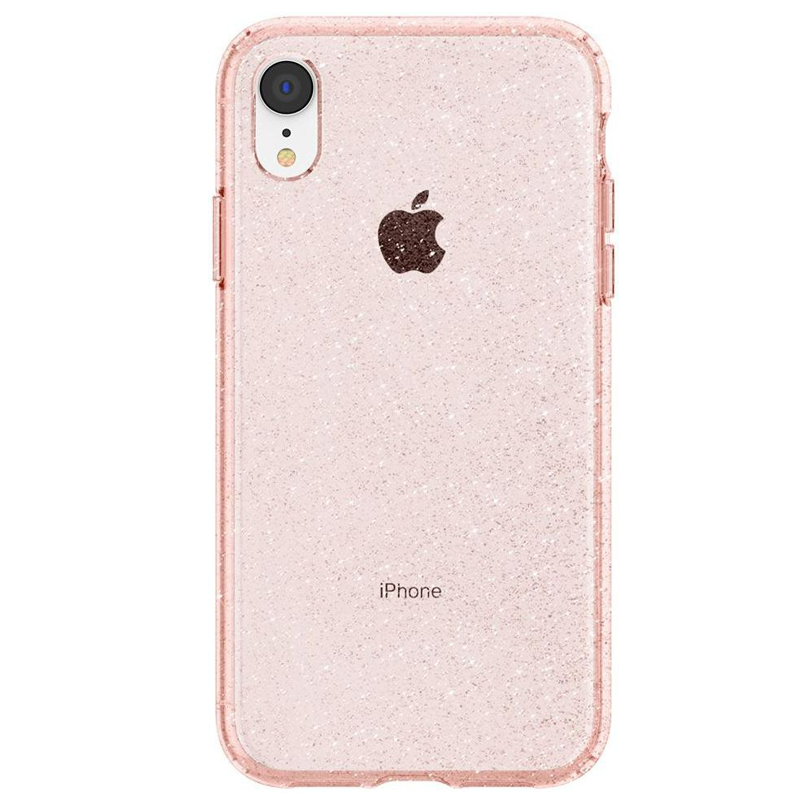 Spigen Liquid Crystal Case Glitter iPhone XR Roze 02