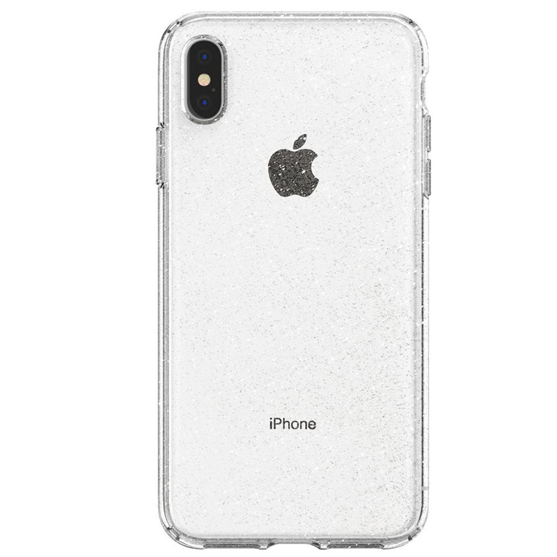 Spigen - Liquid Crystal Glitter Case iPhone XS Max Transparant 02