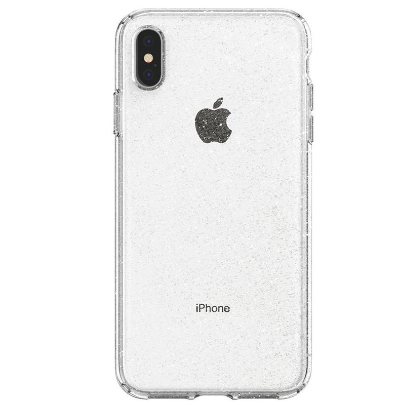 Spigen - Liquid Crystal Glitter Case iPhone XS Max Transparant 02