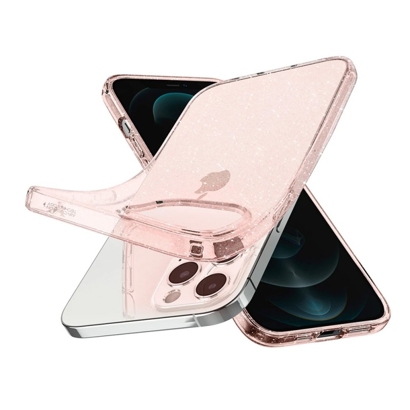 Spigen Liquid Crystal Gitter iPhone 12 / 12 Pro Roze - 2
