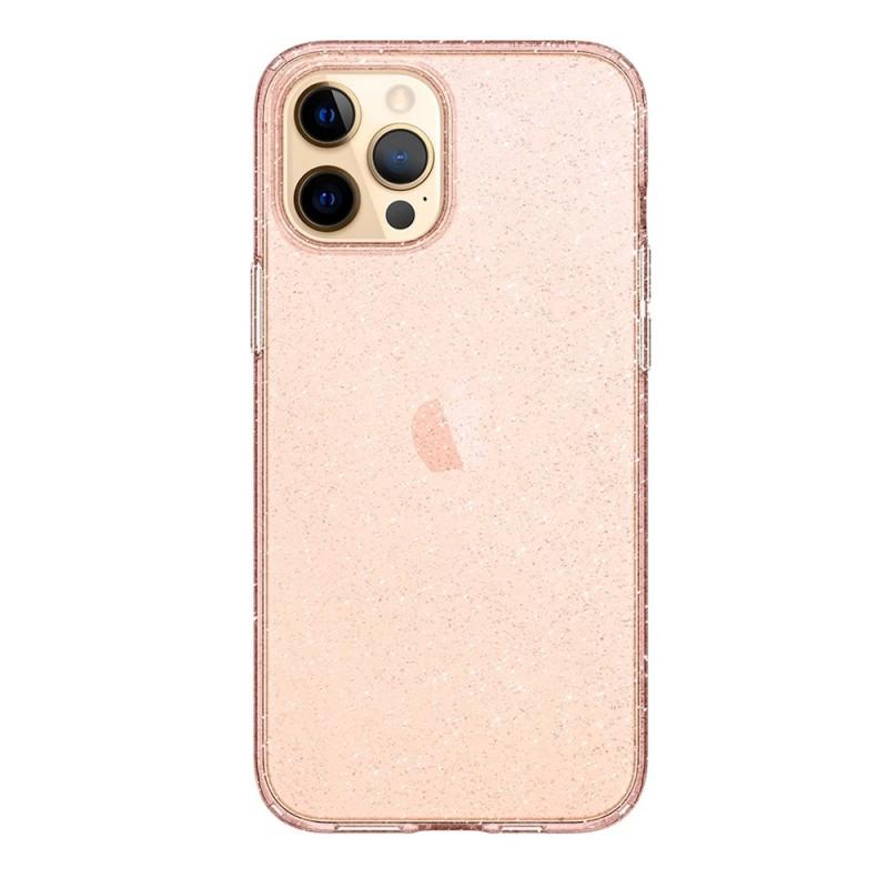 Spigen Liquid Crystal Gitter iPhone 12 / 12 Pro Roze - 3