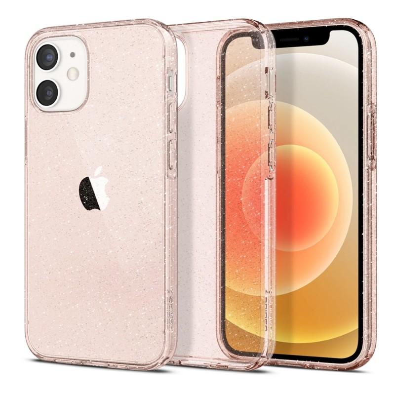Spigen Liquid Crystal Glitter iPhone 12 Mini Roze - 1