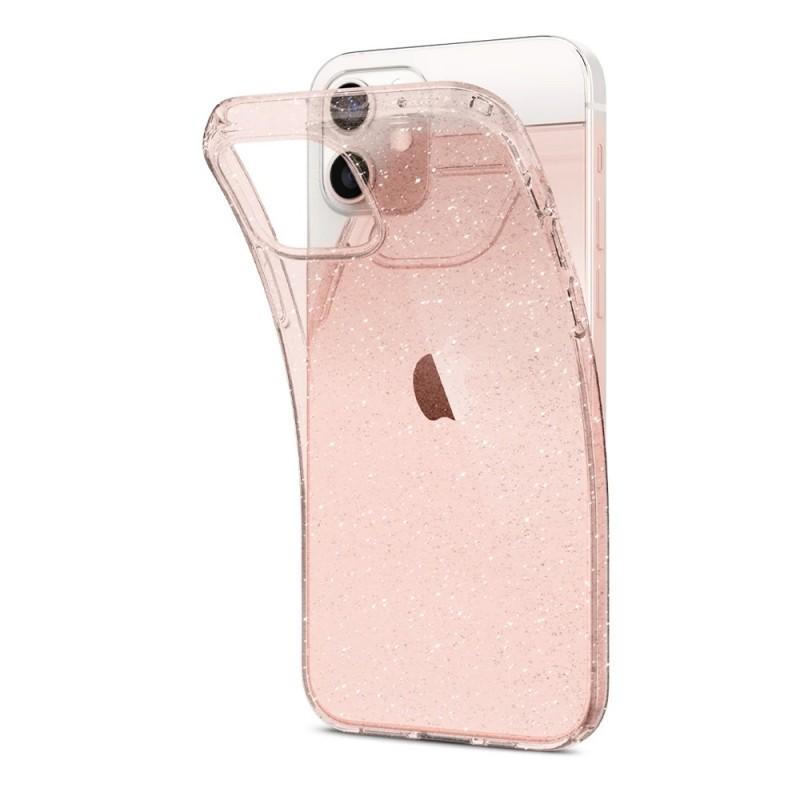 Spigen Liquid Crystal Glitter iPhone 12 Mini Roze - 5