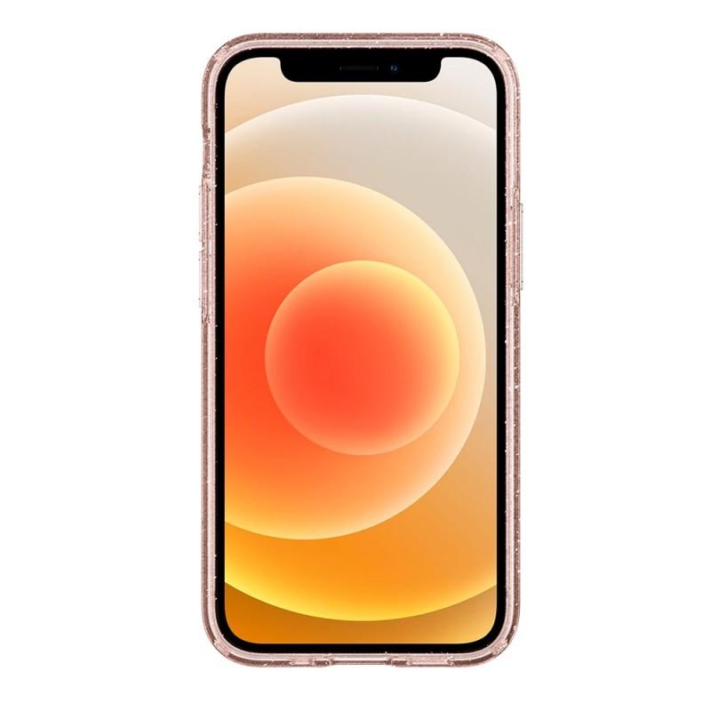 Spigen Liquid Crystal Glitter iPhone 12 Mini Roze - 4
