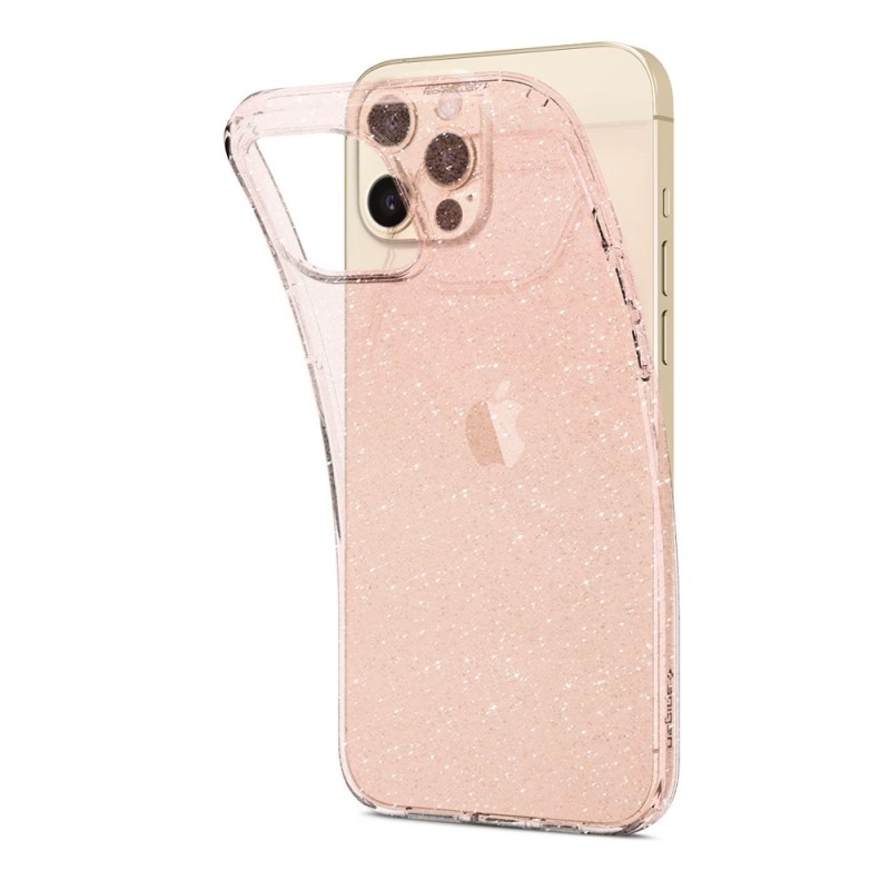 Spigen Liquid Crystal Glitter iPhone 12 Pro Max Roze - 5