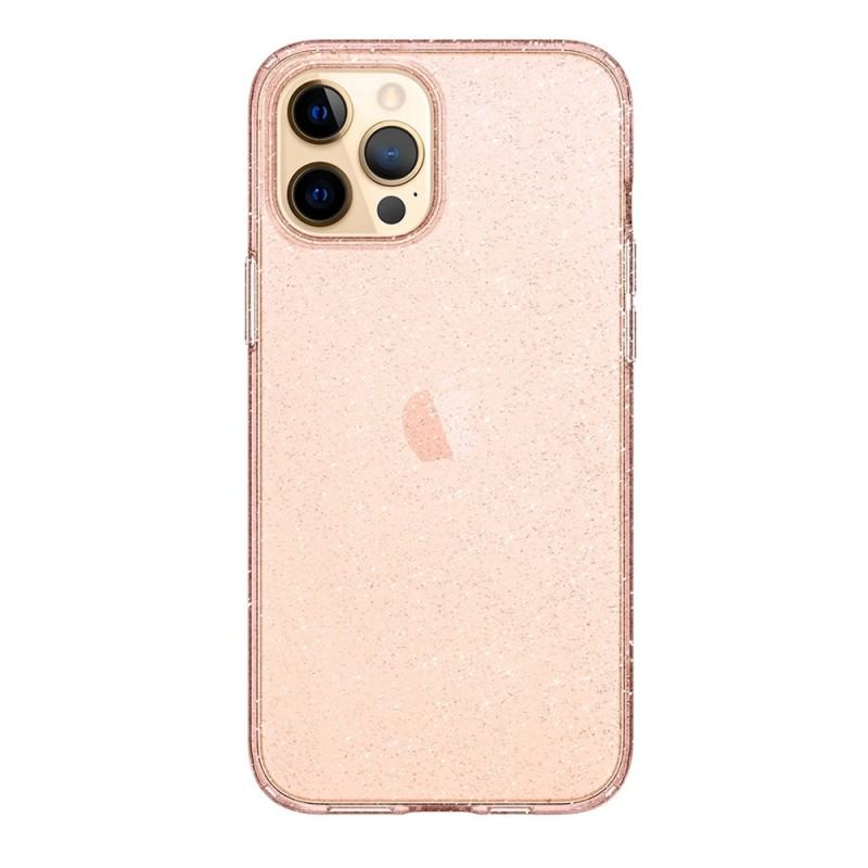 Spigen Liquid Crystal Glitter iPhone 12 Pro Max Roze - 3