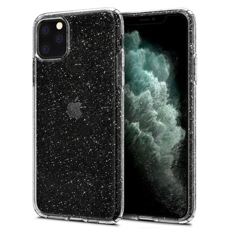 Spigen - Liquid Crystal Glitter iPhone 11 Pro Hoesje Quartz glitter 01