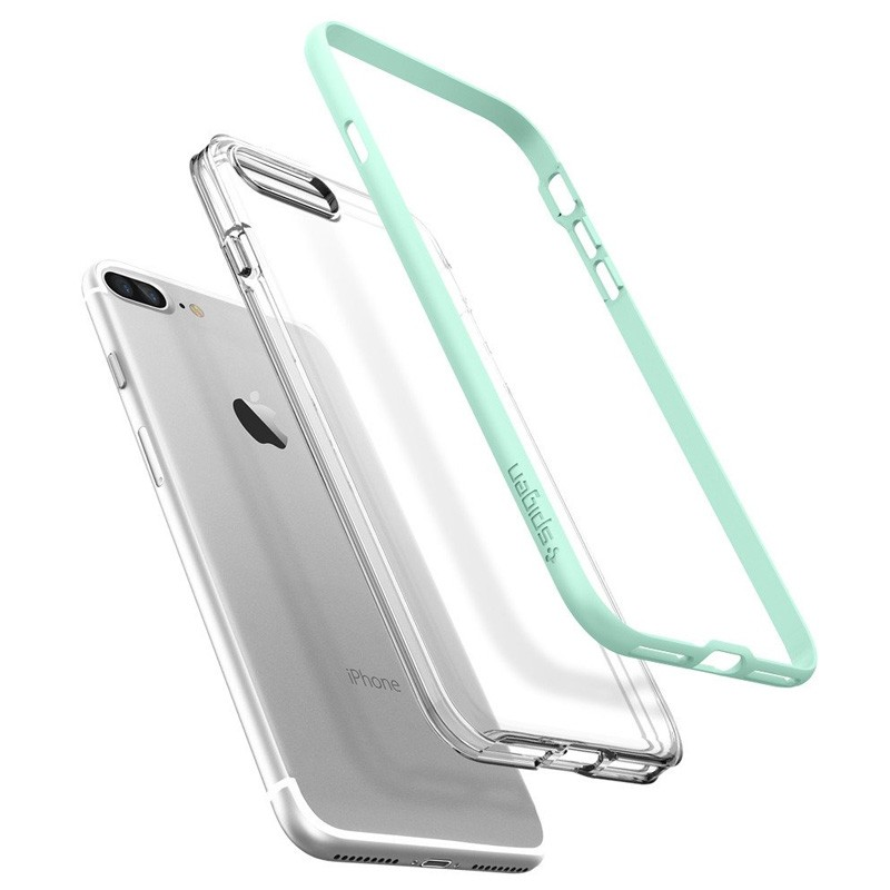 Spigen Neo Hybrid Crystal iPhone 7 Plus Mint/Clear - 3