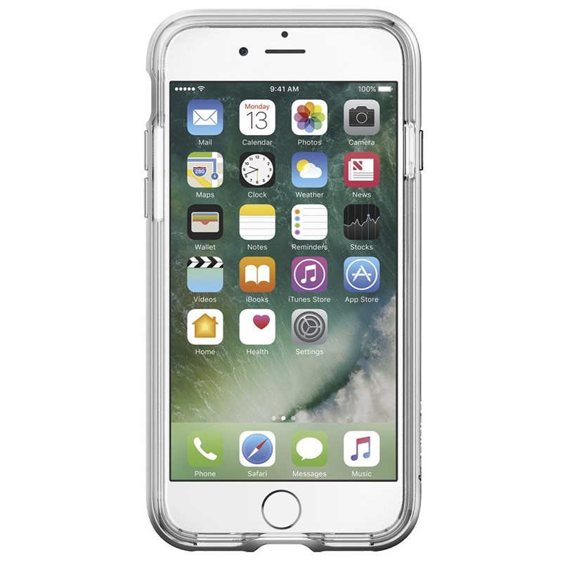 Spigen Neo Hybrid Crystal iPhone 7 Silver/Clear - 2