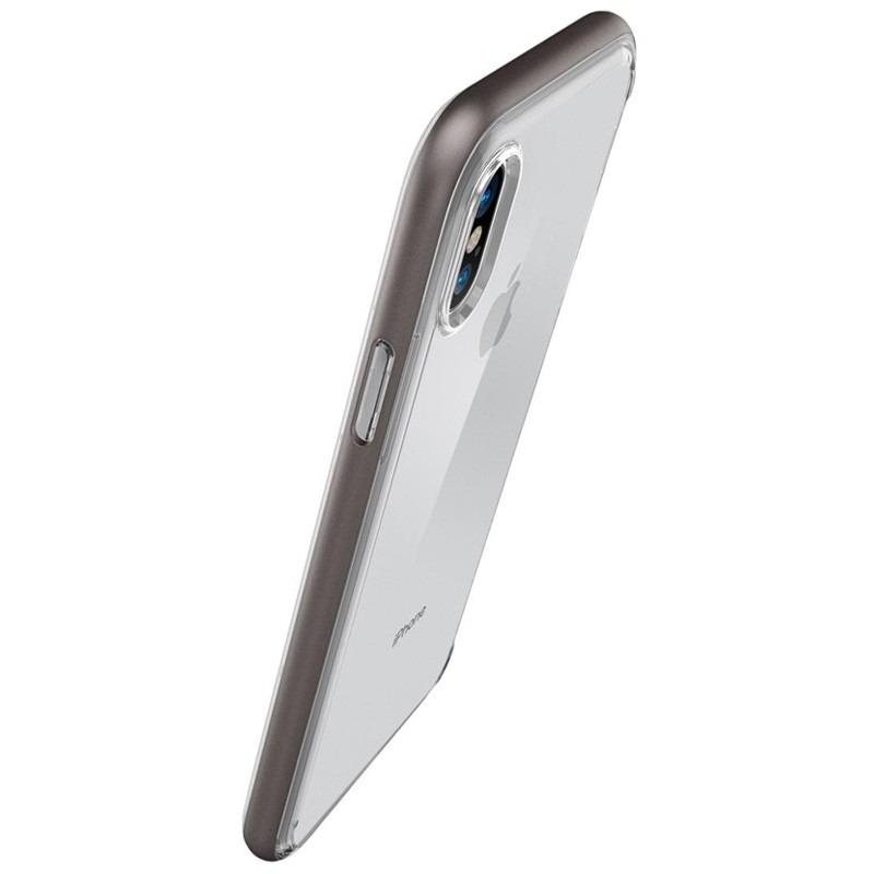 Spigen - Neo Hybrid Crystal iPhone 8 Hoesje gunmetal - clear 02
