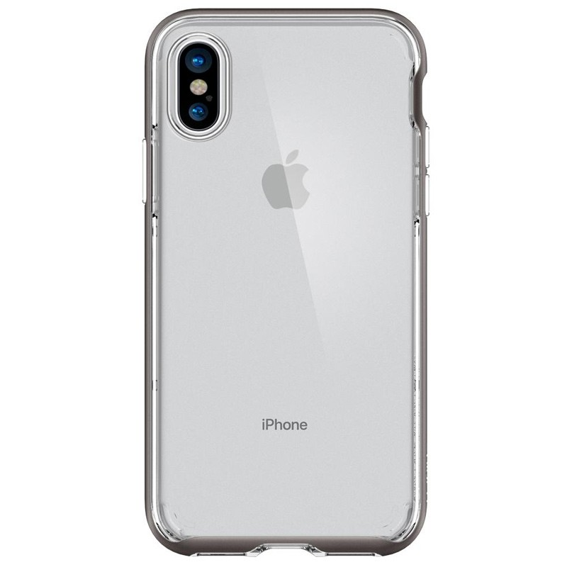Spigen - Neo Hybrid Crystal iPhone 8 Hoesje gunmetal - clear 06