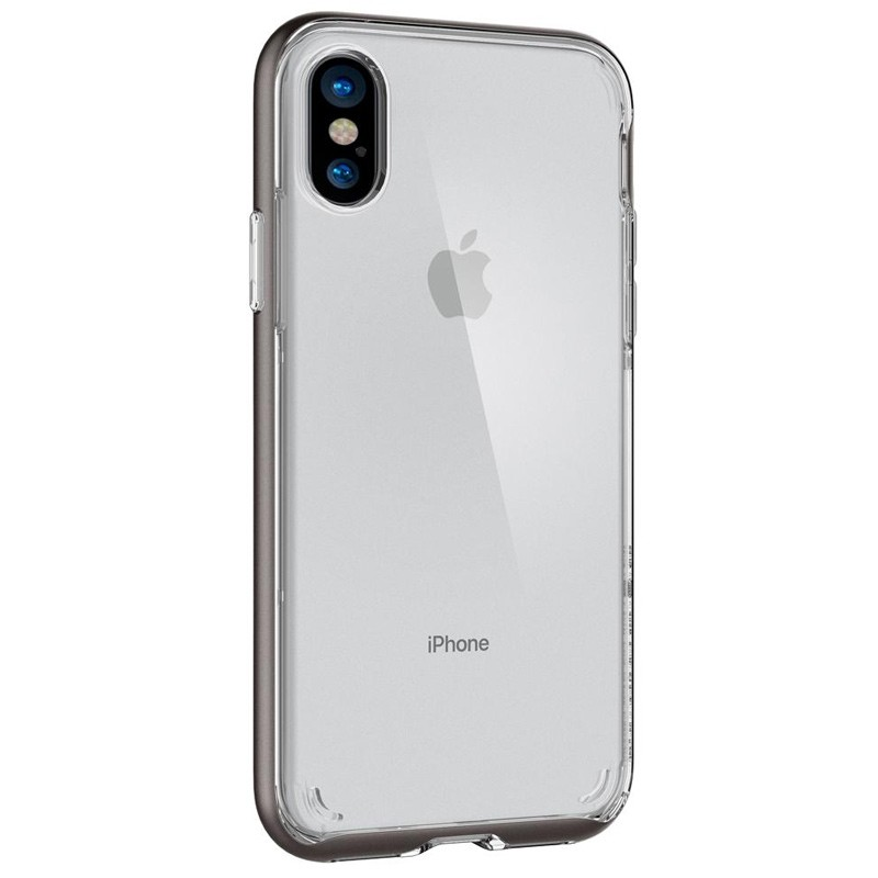 Spigen - Neo Hybrid Crystal iPhone 8 Hoesje gunmetal - clear 07