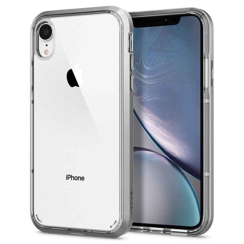 Spigen Neo Hybrid Crystal iPhone XR Case Zilver Transparant 02