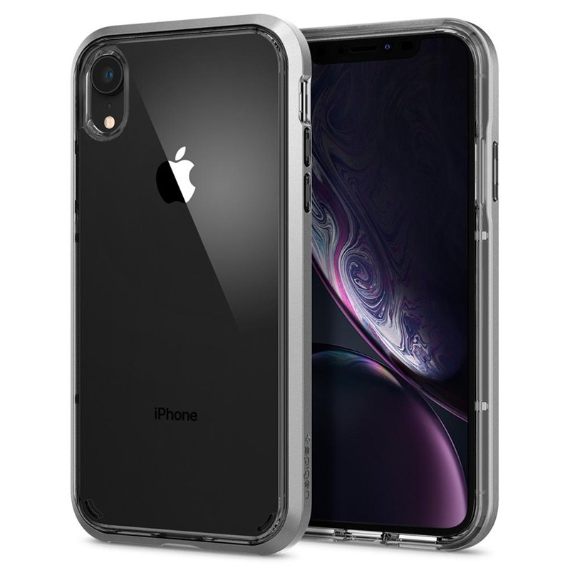Spigen Neo Hybrid Crystal iPhone XR Case Zilver Transparant 04
