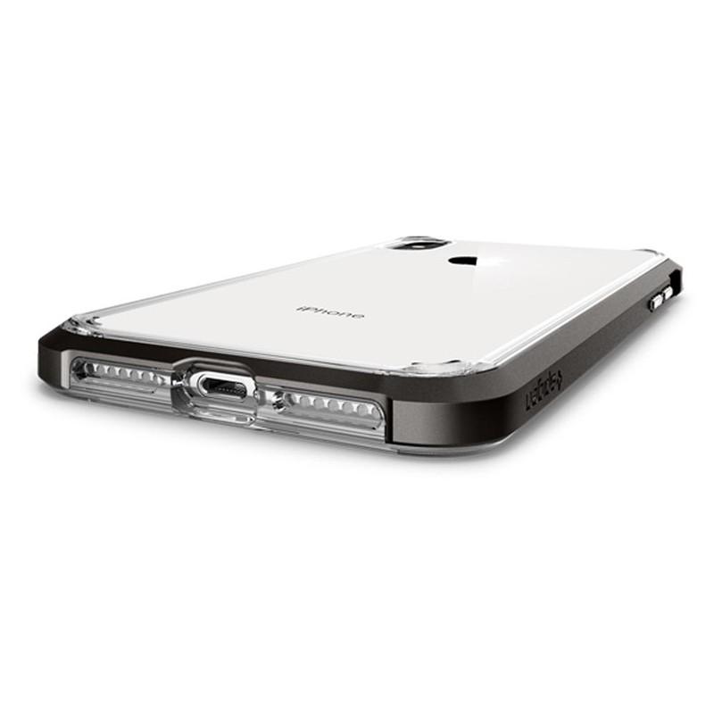 Spigen Neo Hybrid Crystal iPhone XS Max Hoesje Gunmetal Transparant 04
