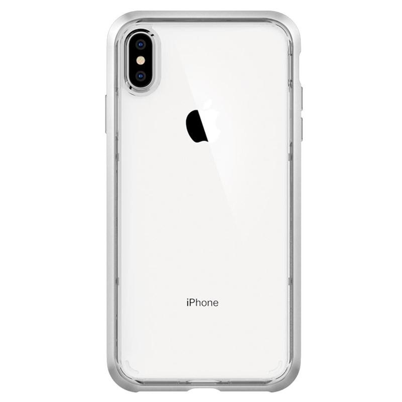 Spigen Neo Hybrid Crystal iPhone XS Max Hoesje Silver Transparant 01