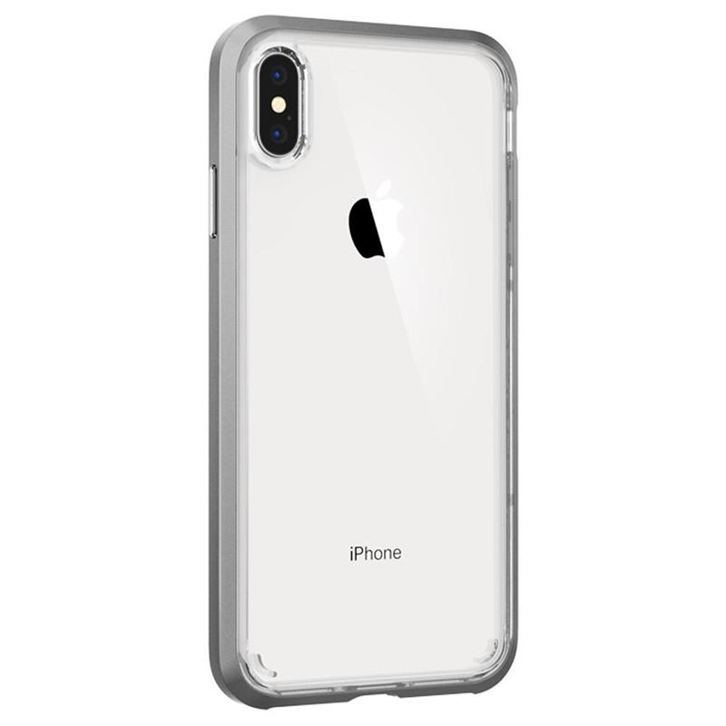 Spigen Neo Hybrid Crystal iPhone XS Max Hoesje Silver Transparant 02
