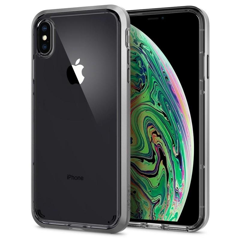 Spigen Neo Hybrid Crystal iPhone XS Max Hoesje Silver Transparant 07