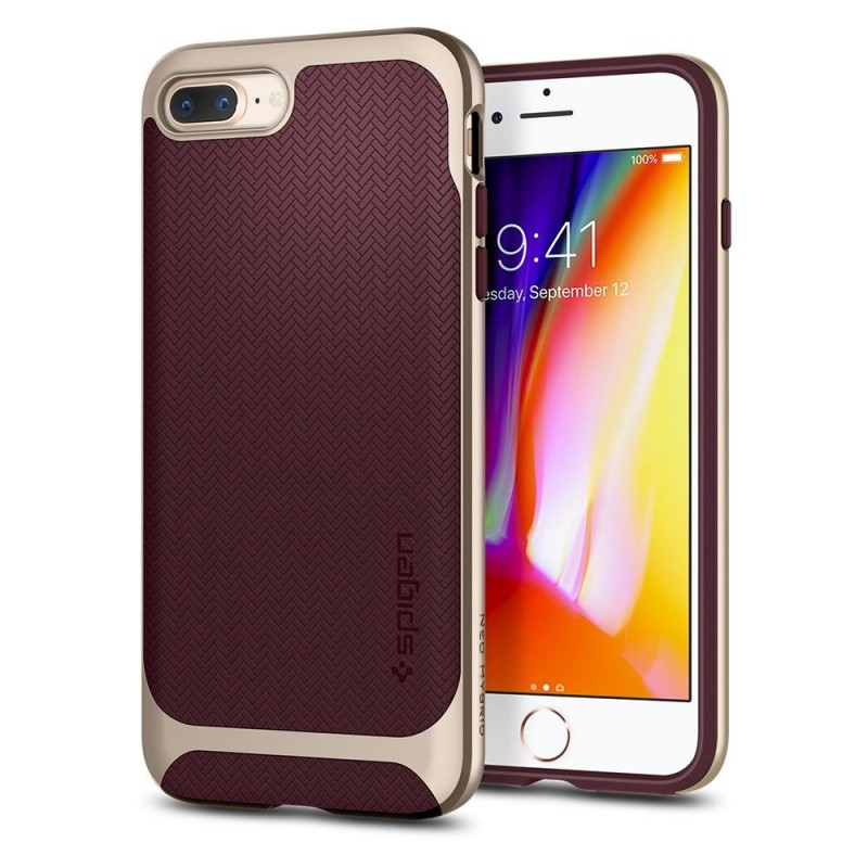 Spigen Neo Hybrid Herringbone iPhone 8 Plus/7 Plus Burgundy - 1