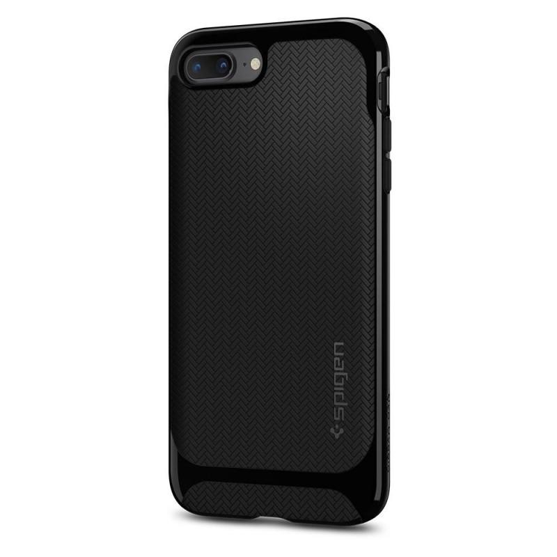 Spigen Neo Hybrid Herringbone iPhone 8 Plus/7 Plus Hoogglans Zwart - 6