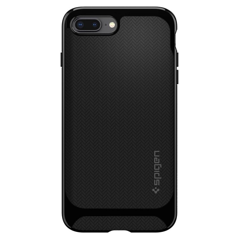 Spigen Neo Hybrid Herringbone iPhone 8 Plus/7 Plus Hoogglans Zwart - 5