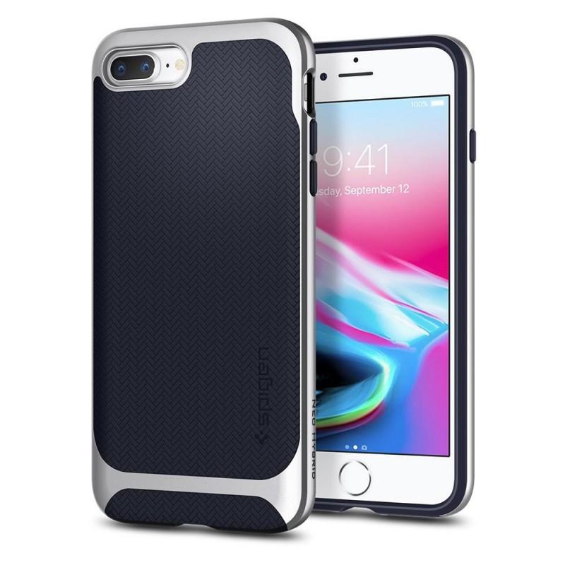Spigen Neo Hybrid Herringbone iPhone 8 Plus/7 Plus Zilver - 1