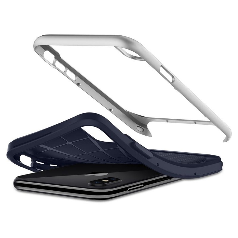 Spigen Neo Hybrid iPhone X/Xs Artic Blue/Silver - 3