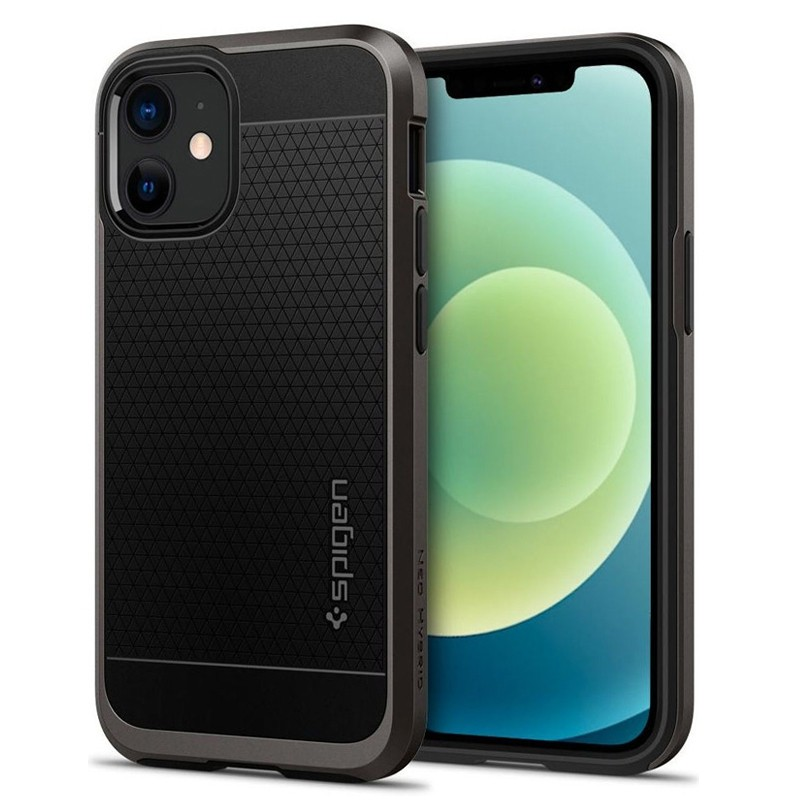 Spigen - Neo Hybrid iPhone 12 Mini 5.4 inch gunmetal 01