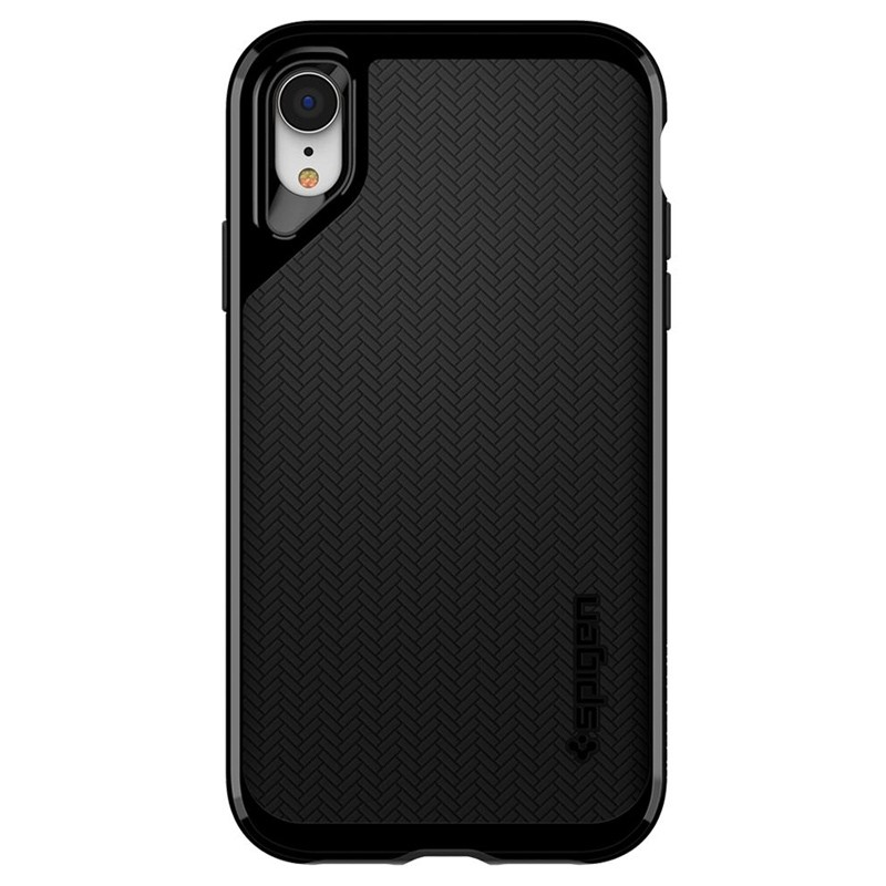 Spigen Neo Hybrid Case iPhone XR Grijs Jet Black 04