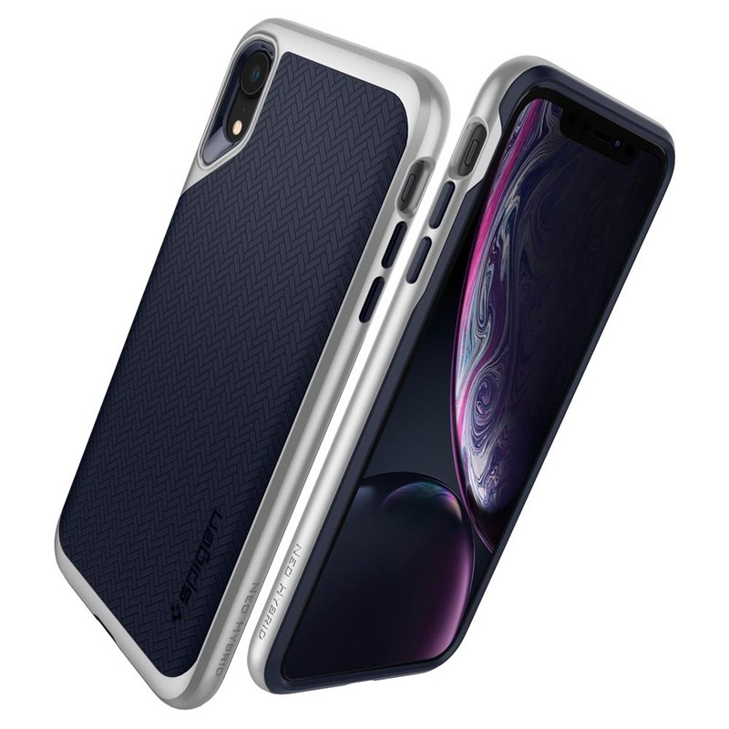 Spigen Neo Hybrid Case iPhone XR Silver Blue 04