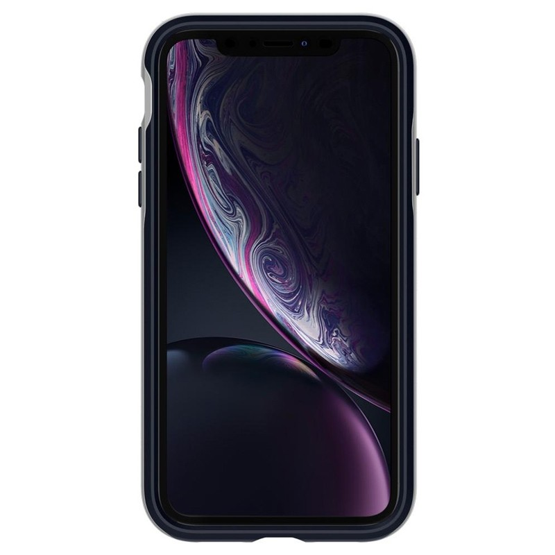 Spigen Neo Hybrid Case iPhone XR Silver Blue 02