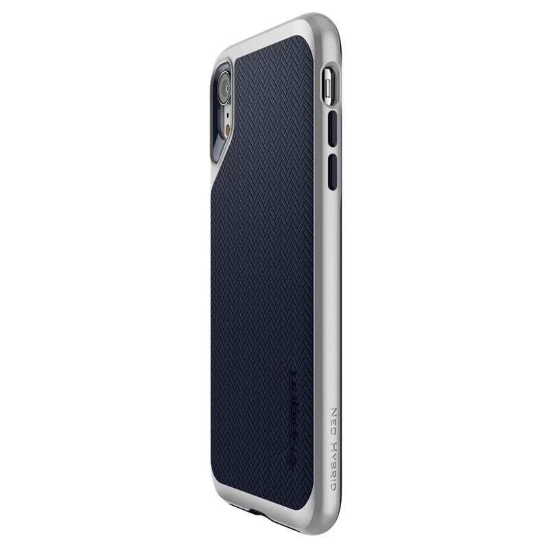 Spigen Neo Hybrid Case iPhone XR Grijs Jet Black 07