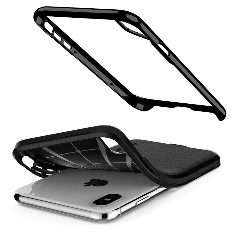 Spigen Neo Hybrid iPhone XS Max Hoesje Jet Black 04